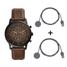 Fossil Collider FTW7008 Hybrid Smartwatch HR + 2 Originale Fossil Hybrid Schnelladekabel