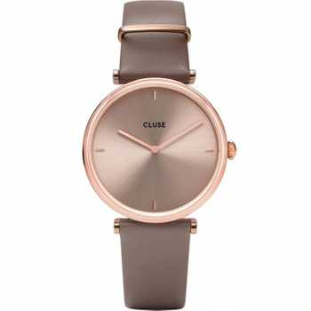 Cluse Triomphe Leather, Rose Gold, Soft Taupe/Soft Taupe CW0101208010