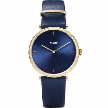 Cluse Triomphe Leather, Gold, Blue CW0101208011
