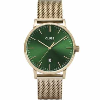 Cluse Aravis Mesh, Gold, Green/Gold CW0101501006