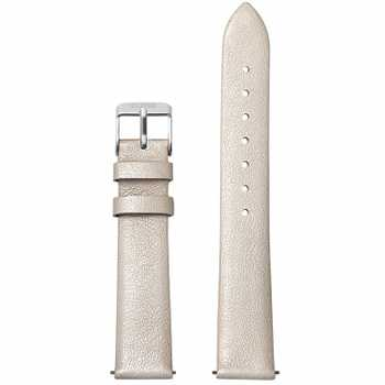 Cluse Strap 16 mm Leather, Warm White Metallic/ Silver CS1408101049