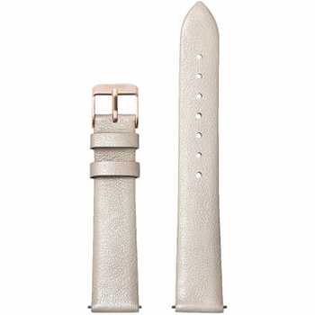 Cluse Strap 16 mm Leather, Warm White Metallic/ Rose Gold CS1408101050
