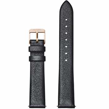Cluse Strap 16 mm Leather, Dark Grey Metallic/ Rose Gold CS1408101054