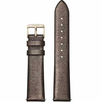 Cluse CS1408101057 Strap 18 mm Leather, Chocolate Brown Metallic/ Gold