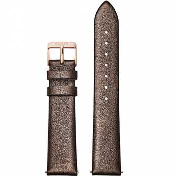 Cluse Strap 18 mm Leather, Chocolate Brown Metallic/ Rose Gold CS1408101058