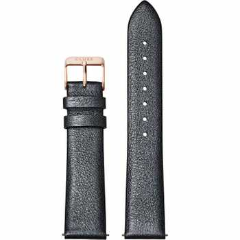 Cluse Strap 18 mm Leather, Dark Grey Metallic/ Rose Gold CS1408101060