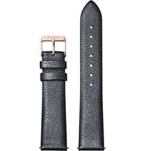 Cluse CS1408101060 Strap 18 mm Leather, Dark Grey Metallic/ Rose Gold