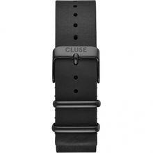 Cluse CS1408101071 Strap 20 mm Nato Leather, Black/ Black