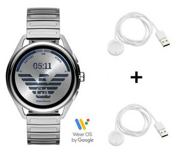 Emporio Armani Connected Matteo ART5026 Smartwatch + 2x Emporio Armani Ladekabel