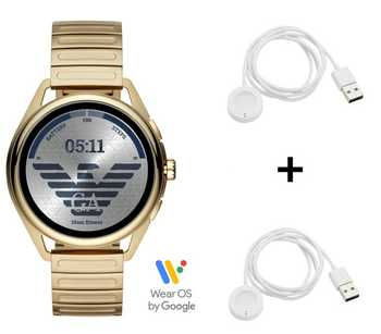 Emporio Armani Connected Matteo ART5027 Smartwatch + 2x Emporio Armani Ladekabel