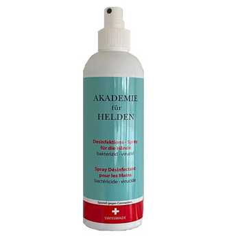 250ml Handdesinfektion Spray Akadamie für Helden - Swiss Made