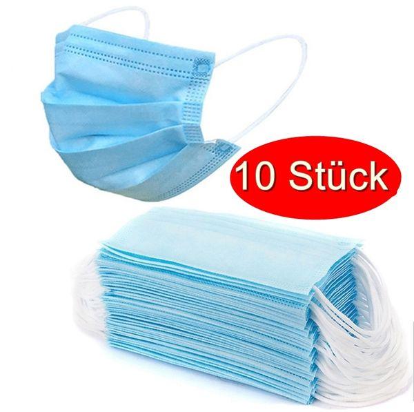 10 Stück Hygienemasken / mit 3Ply Benefits