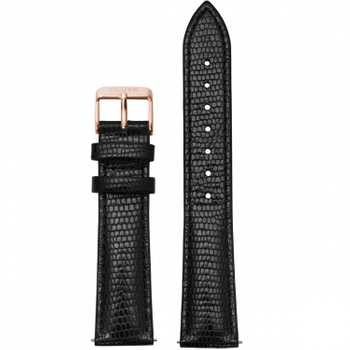 Cluse CS1408101012 CLS068 Strap 18 mm Leather, Black Lizard/ Rose Gold