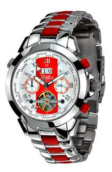 Zeitlos Exzellent Race Edition Steelband Red ZL-ES-10