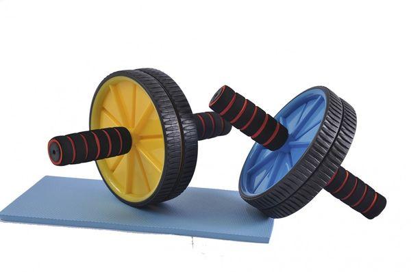 AB Wheel Dual Pro Rücken, Arm, Schulter und Bauchtrainer Bauchroller + Matte