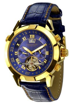"Calvaneo 1583 Astonia ""Luxury Blue GOLD"", Automatic calendar complication"