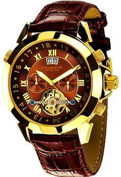 Calvaneo 1583 Astonia Brandy Brown GOLD Automatik