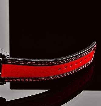 Special Edition Real Leather (cowhide) watchband, Red and Black Bicolour wristband