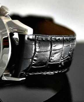 Special Edition Real Leather (cowhide) Band Croco Black Watch Watch strap