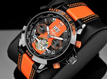 Zeitlos Exzellent Beast Limited Edition Orange Referenz ZL-EB-10 BO