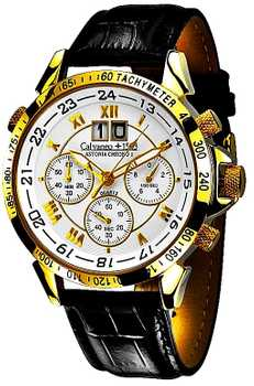 Calvaneo 1583 Astonia Chrono One GOLD - Caliber 6S50, gelb vergoldet