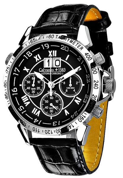 Calvaneo 1583 Astonia Chrono One Steel Black - Caliber 6S50 001