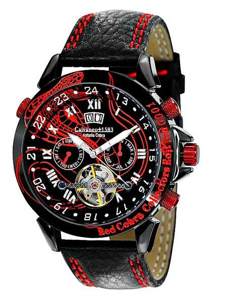 Calvaneo 1583 Astonia Red Cobra Collectors Sonderedition, Automatik 001