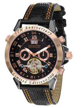 Calvaneo 1583 Astonia 5th Anniversary Black Night Rose Gold automatic Complication