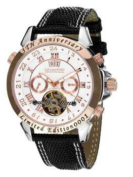 Calvaneo 1583 Astonia 5th Anniversary Steel Rose Gold Cream Automatic complication