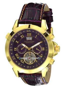 Calvaneo 1583 Astonia Luxury Violet Star GOLD Automatic calendar complication