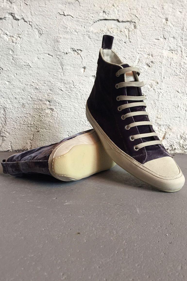 Damen schuhe 2 STAR  40 sneakers schwarz samt pelz glitter AE614-D