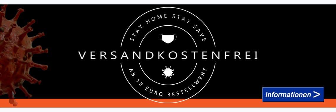 Versandkostenfreie Lieferung ab 15 Euro Bestellwert