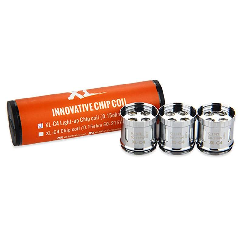 IJoy XL-C4 Light-up Chip Verdampferköpfe 0.15 Ohm 3er Pack – Bild 2