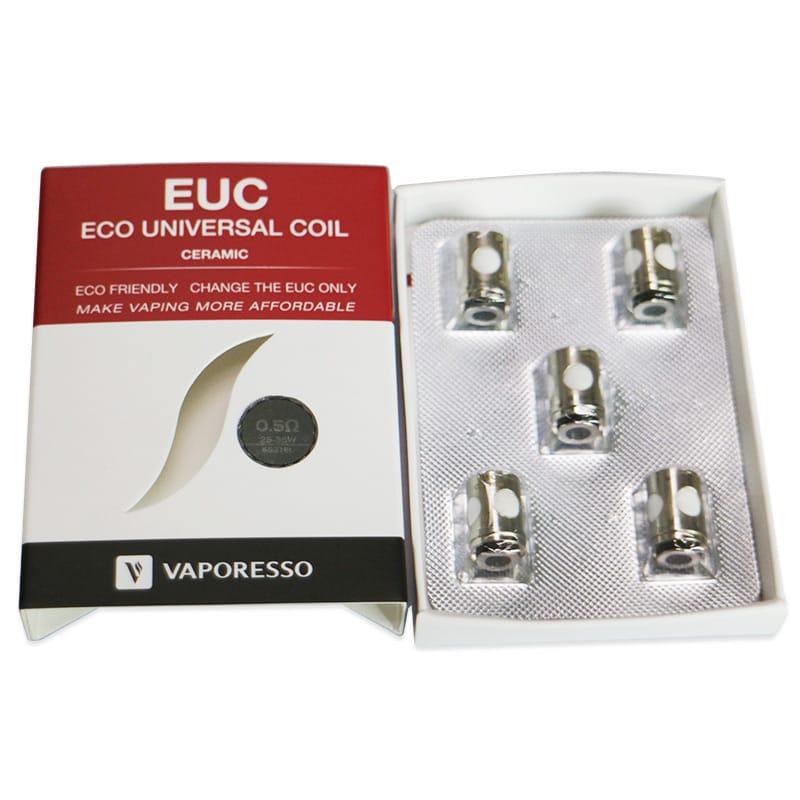 Vaporesso EUC Keramik Verdampferköpfe 0.3/0.5 Ohm 5er Pack – Bild 3