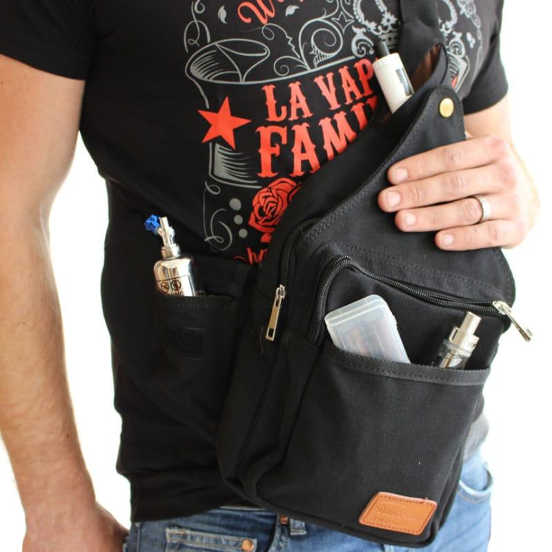 Dampfer Rucksack (Slingbag) mit vielen Taschen – Bild 3
