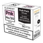 Aspire Gusto Nikotinsalz Liquidpod ELEMENT Pnk Ns20 3er Pack - Bild Nummer 1