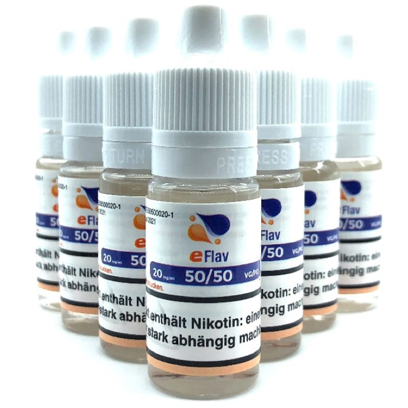 eFlav eLiquid Basis Nikotin Shot 10 x 10 ml 20 mg – Bild 1