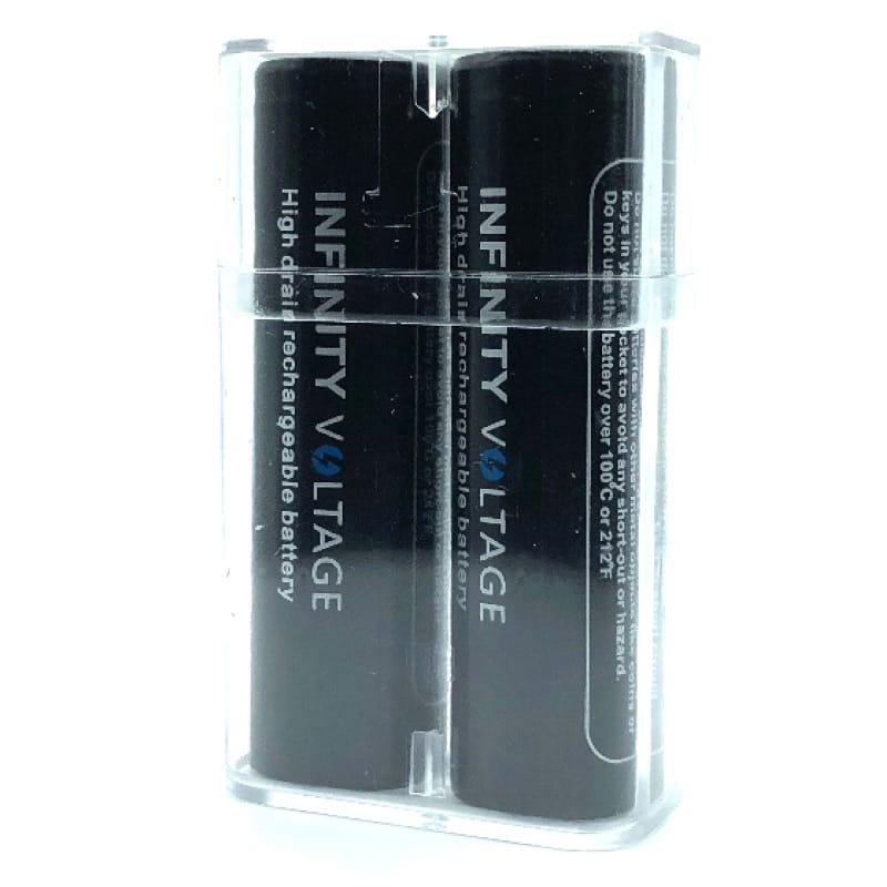 Infinity Voltage 18650er Li-Ion Akkuzelle 50 Ampere 3100 mAh 2er-Pack mit Box – Bild 3