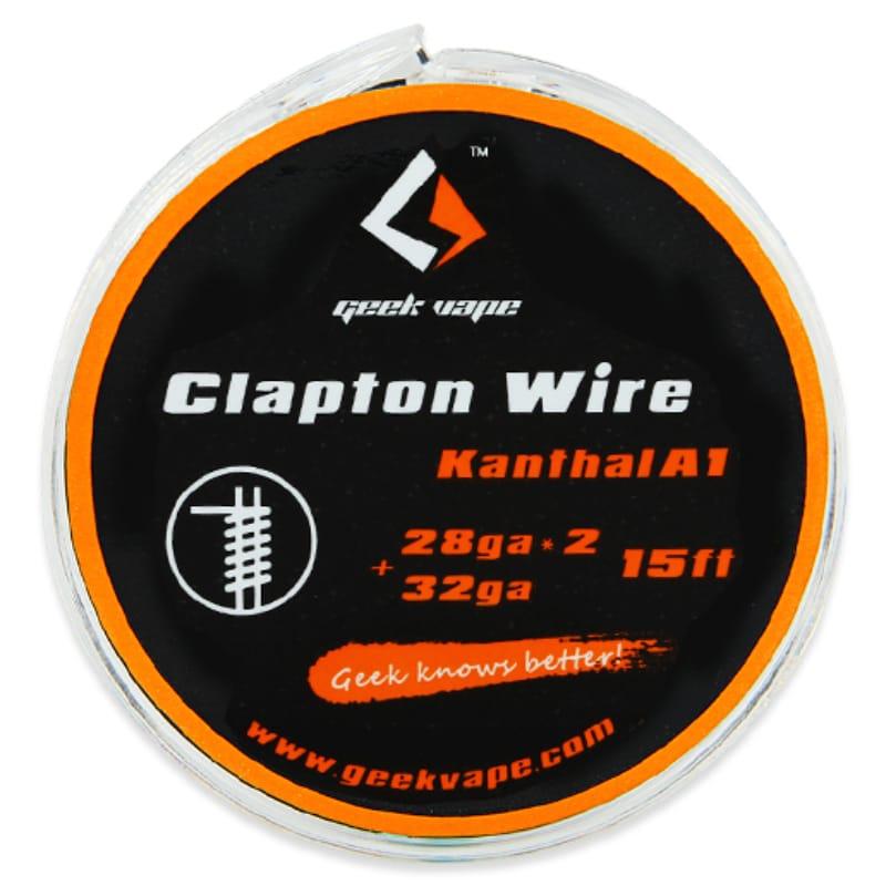 GeekVape Wickeldraht Clapton 2x28GA/32GA 5 Meter – Bild 1