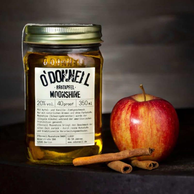 O`Donnell Moonshine Likör Bratapfel 20% vol 350 ml – Bild 1