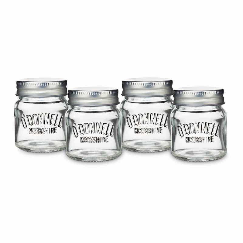 O`Donnell Moonshine Mason Jar Shotgläser 4 cl 4er Pack – Bild 1