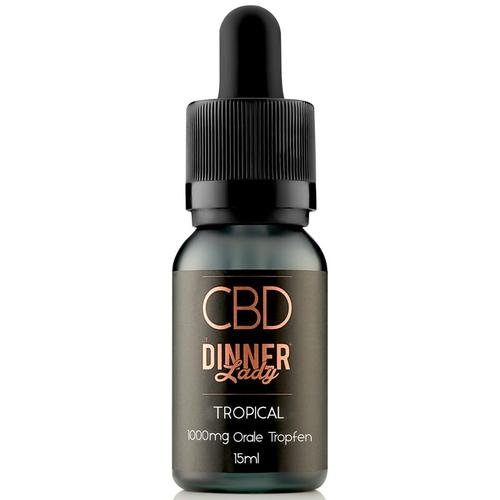 Dinner Lady CBD Oral Drops Tropical 1000 mg 15 ml