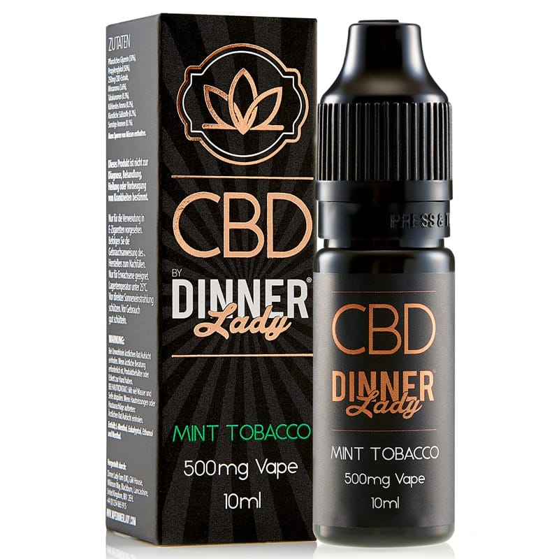 Dinner Lady CBD Liquid Mint Tobacco 500 mg 10 ml – Bild 2