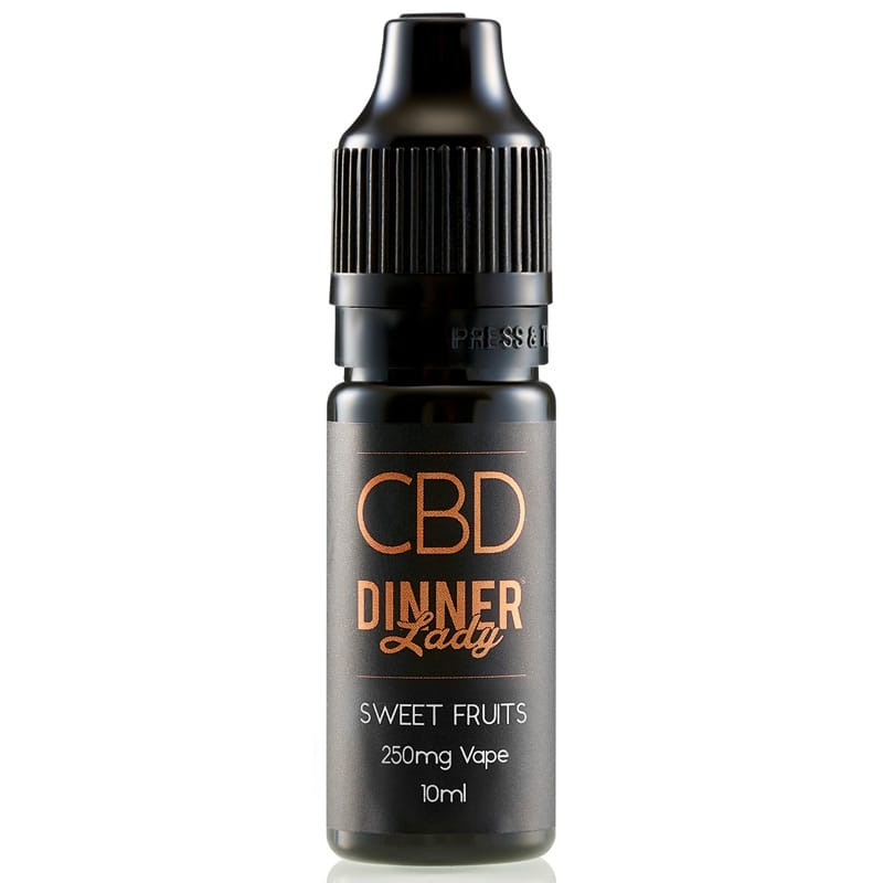 Dinner Lady CBD Liquid Sweet Fruits 250 mg 10 ml – Bild 1
