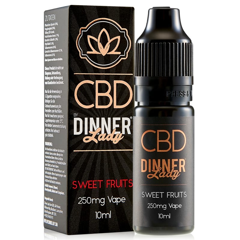Dinner Lady CBD Liquid Sweet Fruits 250 mg 10 ml – Bild 2