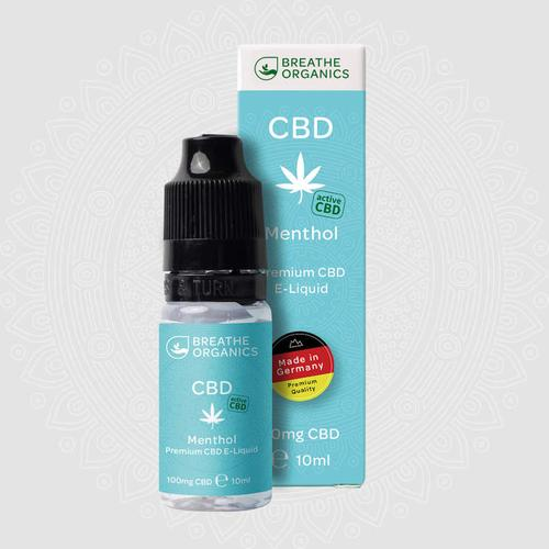 Breathe Organics Premium activeCBD E-Liquid Menthol 600 mg 10 ml