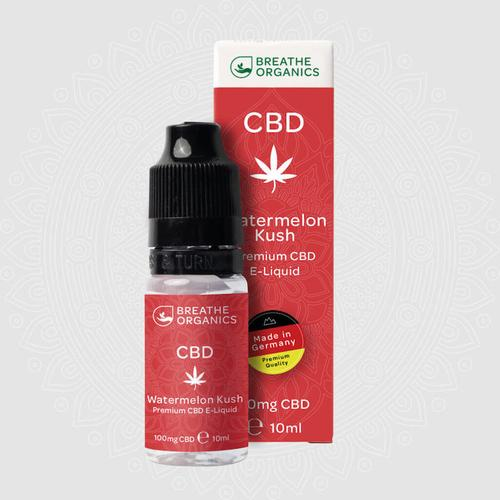 Breathe Organics Premium CBD E-Liquid Watermelon Kush 600 mg 10 ml