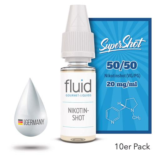 fluid Gourmet-Liquids Supershot Nikotinshot 10 x 10 ml 20 mg im eDampf-Shop