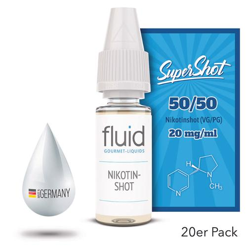 fluid Gourmet-Liquids Supershot Nikotinshot 20 x 10 ml 20 mg