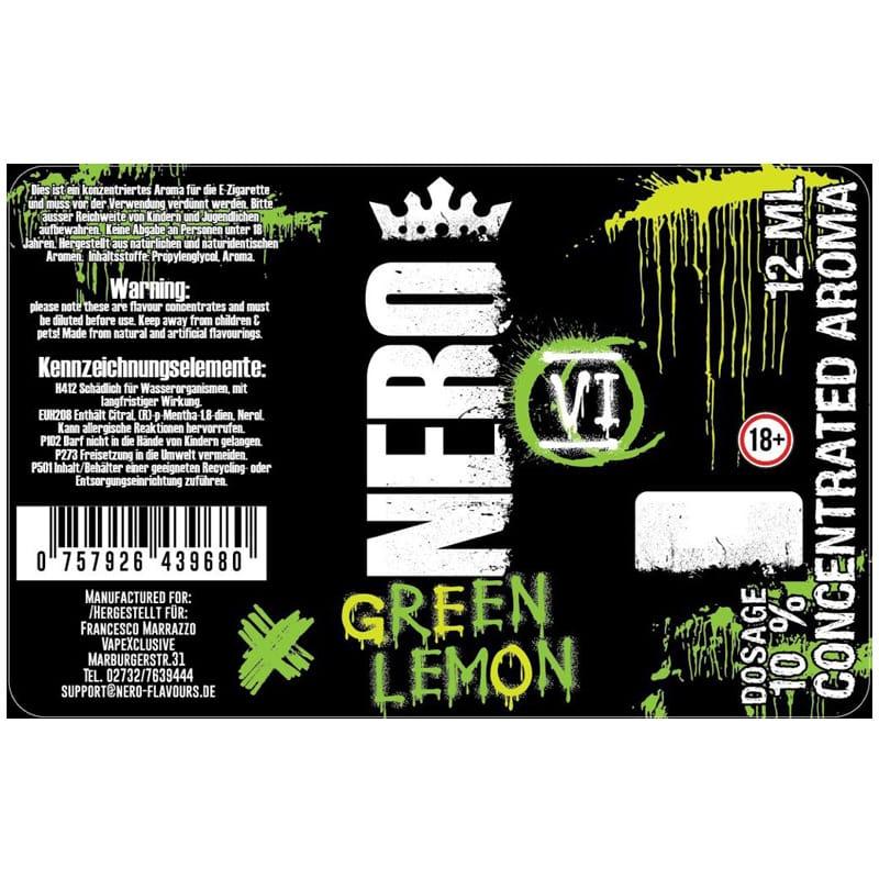 Nero Flavours Green Lemon Longfill Aroma 12 ml für 120 ml – Bild 2